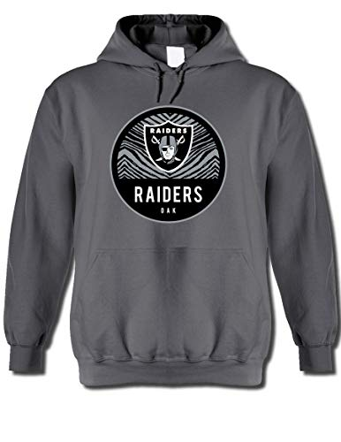 NFL Oakland Raiders Men's Team Graphic Gray Hoodie, Gray, Large