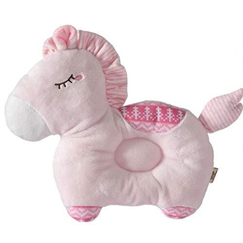 BYFRI 1pc Bebé Recién Nacido Almohadas Animal Encantador del Caballo del Patrón Forma Almohada Bebé Anti-vuelco Bebé Reposacabezas Almohada Cojín