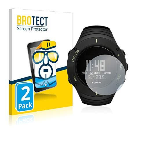 BROTECT Protector Pantalla Compatible con Suunto Core Ultimate Black Protector Transparente (2 Unidades) Anti-Huellas
