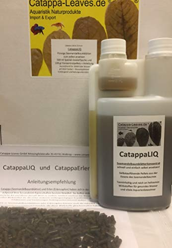 Catappa-Leaves.de Aquaristik Naturprodukte Import & Export Flüssige Seemandelbaumblätter CatappaLIQ Konzentrat für 10000 Liter Wasser für Garnelen und Fische
