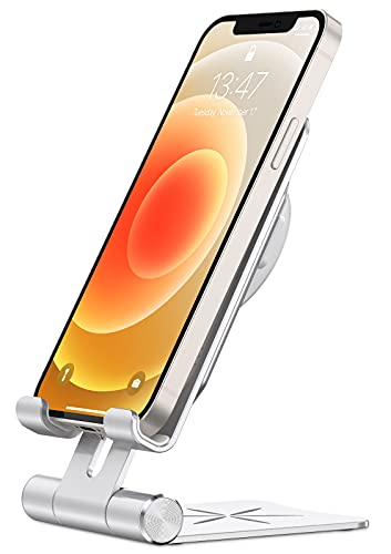 Bovon Soporte Movil para Cargador MagSafe, Porta Movil Mesa Ajustable para MagSafe, Base Carga Plegable para Cargador MagSafe Compatible con iPhone 12 Pro Max/12Pro/12/12Mini/11 Pro Max, Samsung, Etc.