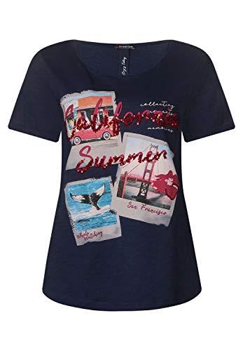 Street One Damen Shirt mit Fotoprint deep Blue 42