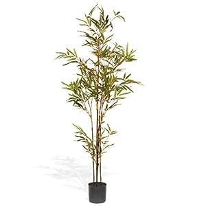 National Tree Company Artificial Tree | Includes Pot Base | Mini Bamboo – 4 ft