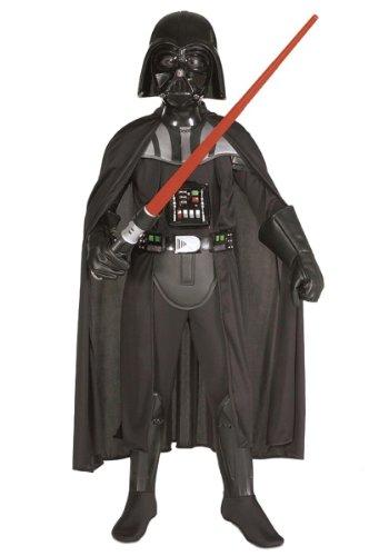 Generique - Darth Vader-Kostüm für Kinder Star Wars schwarz