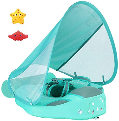 VQ-Ant Newest Mambobaby Non Inflatable Swim Trainer Size Improved Add Tail Never Flip Over UPF 50+...