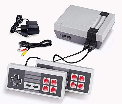 TV Spielekonsolen für Kinder Erwachsene ,Retro Spielekonsole Eingebaute 620 Klassische Videospiele Spielebox TV Output mit Zwei Joystick Controller