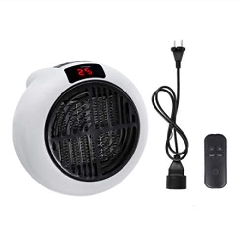 N+A Mini Ventilador Calefactor, Ventilador Calefactor eléctrico portátil, Ventilador Calefactor de cerámica con Control Remoto, función de protección contra sobrecalentamiento (Blanco)
