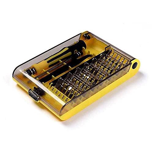 YMOMY Destornillador de precisión de Cromo vanadio 45 en 1 Kit de Herramientas Destornillador magnético for Herramientas compactas de reparación y Mantenimiento for teléfonos móviles y tabletas