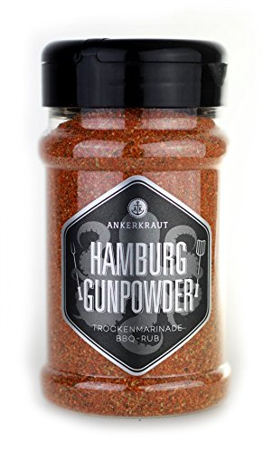 Ankerkraut Hamburg Gunpowder, 200g im Streuer, Gewürzmischung Universalgewürz zum Zubereiten von Fleisch
