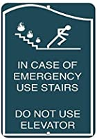 ティンサイン用のアルミメタルサイン、緊急用の場合階段はエレベーターアイアンポスター塗装壁の装飾、カフェバー、パブ、ホームビール、デコレーションクラフト