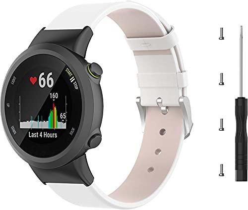 Chainfo Correa de Reloj Compatible con Garmin Forerunner 45 / Forerunner 45S / Swim 2, Cross Piel Correa/Banda/Pulsera/Reemplazo (Pattern 2)