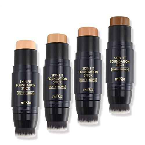 4 couleurs Double-face du visage Palette Correcteur Crème Fond de teint Base Correcteur Correcteur Contour Palette Contouring avec Pinceau