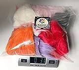 Bianna Creations Kunstfell-Beutel, zufällige Farben, 85 g,