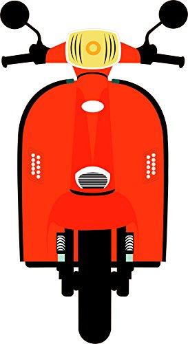 Photocall Moto Naranja| Medidas 0,72 m x 1,33 m | Photocall Divertido | Bodas comuniones
