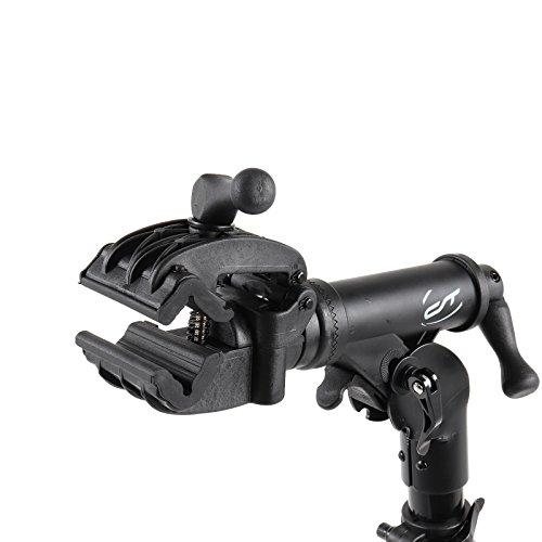 Contec Fahrrad Montageständer eBike Set Rock Steady, Traglast: ca. 30 kg, Klemme 360° rotierbar, (H/B/T) ca. 100x104x82 cm (Aufgebaut) inkl. Werkzeugschale - 6