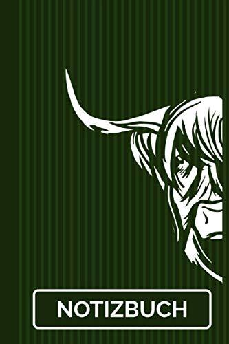Notizbuch: Schottisches Hochlandrind Highland Cattle Rinder 120 Seiten I Weißes Papier I A5 Format I Kuh