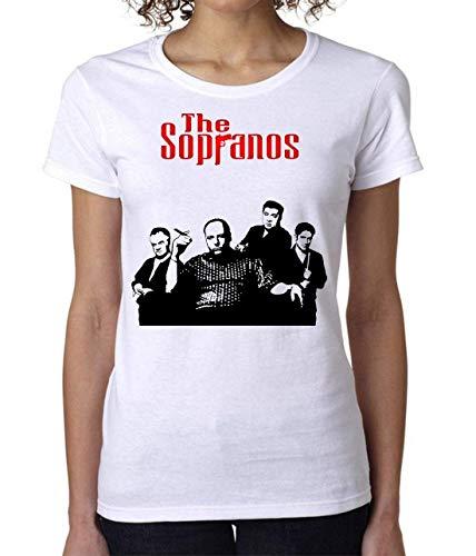 The Sopranos Gandolfini Poster Women's T-Shirt Damen Tshirt Short Sleeve XX-Large