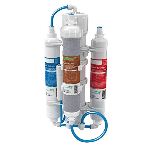 AQUATICLIFE Aquatic Life RO Buddie Plus DI Four Stage Reverse Osmosis Deionization Unit 50 GPD