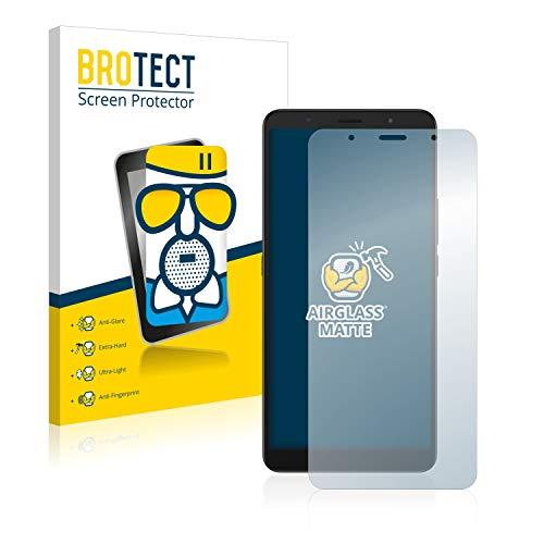BROTECT Entspiegelungs-Panzerglasfolie kompatibel mit Alcatel 3C 2019 - Anti-Reflex Panzerglas Schutz-Folie Matt