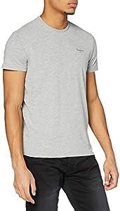 Pepe Jeans Original Basic S/S PM503835 Camiseta, Gris (Grey Marl 933), Large para Hombre