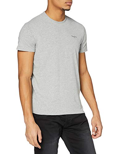 Pepe Jeans Original Basic S/S PM503835 Camiseta, Gris (Grey Marl 933), Medium para Hombre
