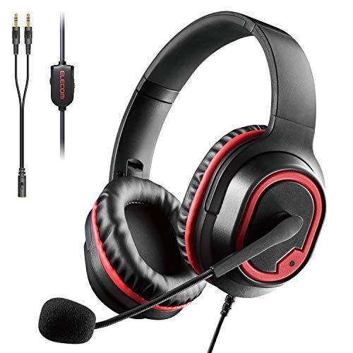 エレコム ゲーミングヘッドセット 両耳オーバーヘッド 2m 軽量モデル ブラック HS-G30BK