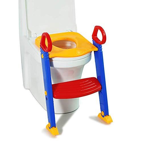 Greensen Vasino per vasino Sedile per WC Sedile per WC per Bambini con scaletta per Sgabello Vasino per Bambini Antiscivolo per addestramento WC Sedile per vasino Incredibile Sedile