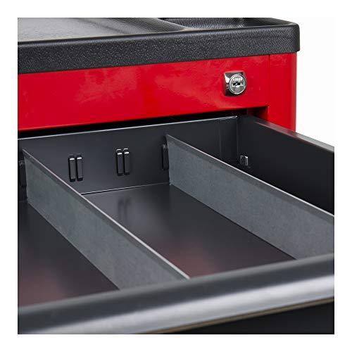 STIER Fachtrenner für STIER Werkstattwagen, 40 x 5 cm, Blech, Zubehör, Sortiereinlage zum STIER Werkstattwagen, optimal für die Schublade, rutschfest, Schubladeneinsatz