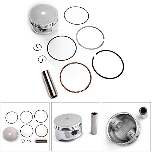 Areyourshop Piston Ring Kit +0.50mm for HELIX CN250 SCOOTER 86-2007 Bore Size 72.50mm