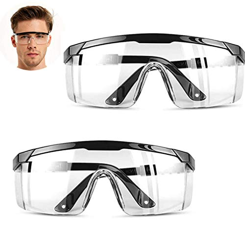 HONGCI 2 Pack Safety Glasses,Anti Fog and UV Protection...