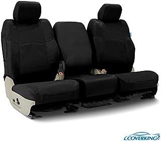 Coverking CSC1E1GM9610 Custom Seat Covers ((1 Row) Cordura/Ballistic Black for Select 2015 to 2018 GMC Truck Sierra 1500HD, 2500HD,3500 Models)