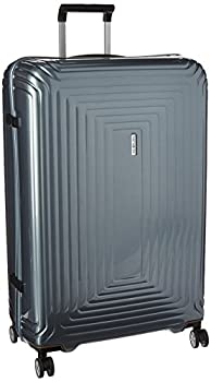 Samsonite Neopulse Hardside Luggage with Spinner Wheels Metallic Silver Checked-Large 30-Inch
