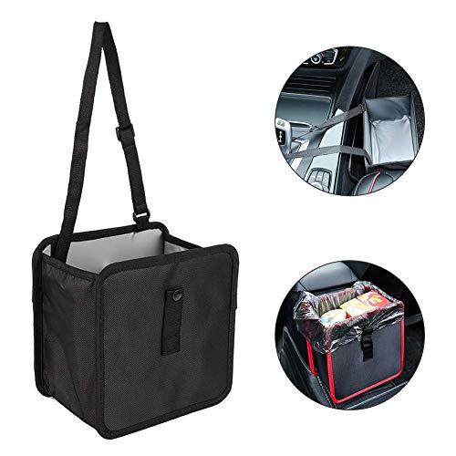 SIZHINIAN Beweglicher Auto-Bin Universal Abfalleimer f/ür Auto-Papierkorb-Rahmen Auto Abfallsackhalter aus Kunststoff Organizer Box Zubeh/ör Rahmen