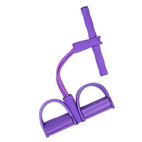 ROWGEE 仰卧起坐拉力绳 四管脚蹬拉力器 脚踏瑜伽健身器 紫色