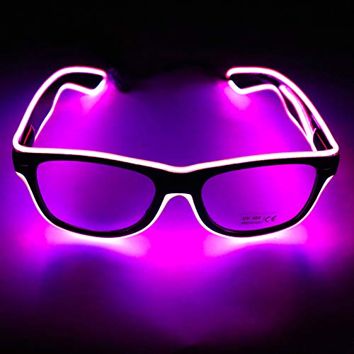 Lixada YJ001 led-glazen EL Wire lichtbril verlichting cool bril LED draadbril licht zonnebril lichtband partybril met batterijdoos voor kinderen party club Stage Disco