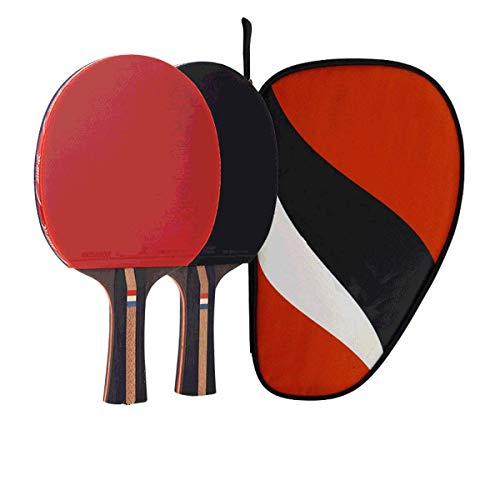 ZTLY Five Star Tischtennisschläger-Set-Professionelle Tischtennis-Schläger-Schläger-Serie Gummi-Carbon Technology