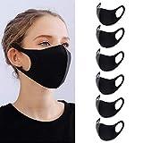 YMHPRIDE 6 mascarillas de boca unisex antipolvo, antipolvo, lavable, reutilizable, para ciclismo, camping, viajes, máscaras de trabajo