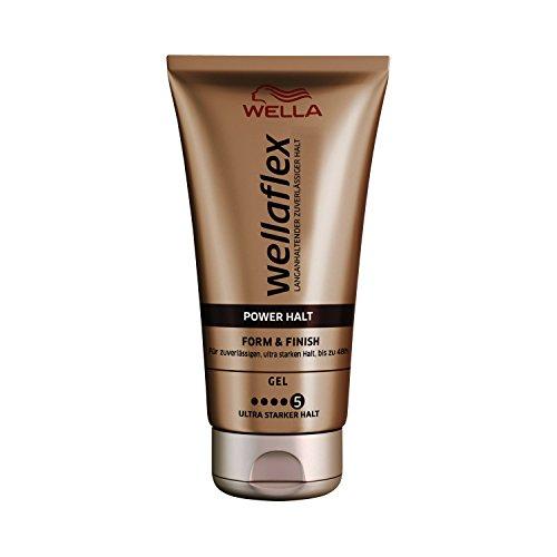 Wella Wellaflex Power Halt Form & Finish Gel für zuverlässigen, bis zu 24h, 6er Pack (6 x 150 ml)