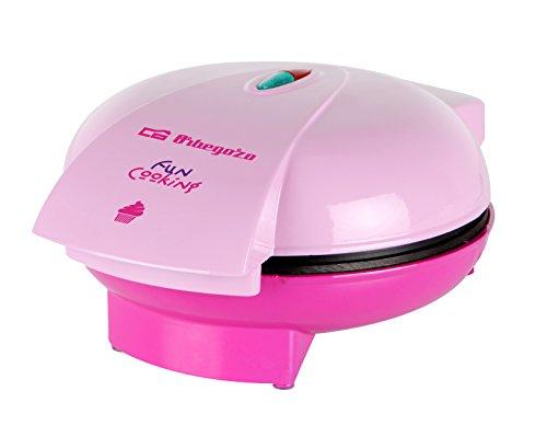 Orbegozo WL 3000 Cup Cake Maker, 1400 W, 6 Cup Cakes de Capacidad, Antiadherente, Protección contra Sobrecalentamiento, 12 Blondas de Papel