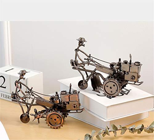 Allshiny Ornament. Europäischen und amerikanischen Stil Wohnzimmer Hause Zimmer TV Schrank weinschrank Dekoration kreative Traktor Handwerk kleine Ornamente eingerichtet Retro schmiedeeiserne Traktor