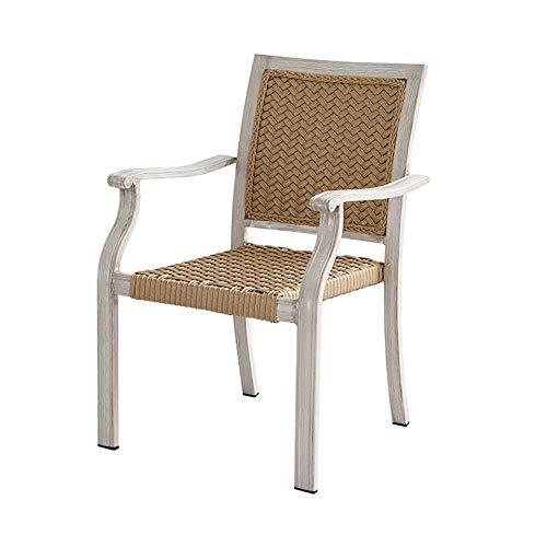 JIEXIAO Freizeit-Stuhl, Innen- und Außen Adult Wicker Woven Stuhl, natürliche Rattan, stilvolle und komfortable