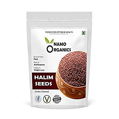 Zeeke Namo Organics 100% Organic Halim Garden Cress Aliv Seeds 900 Gm for Eating Organic and Weight Loss - (Super Saver Pack)