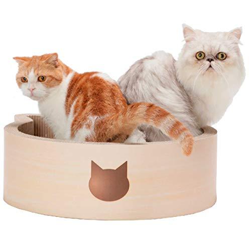 Large Necoichi Cat-Headed Scratcher Bed