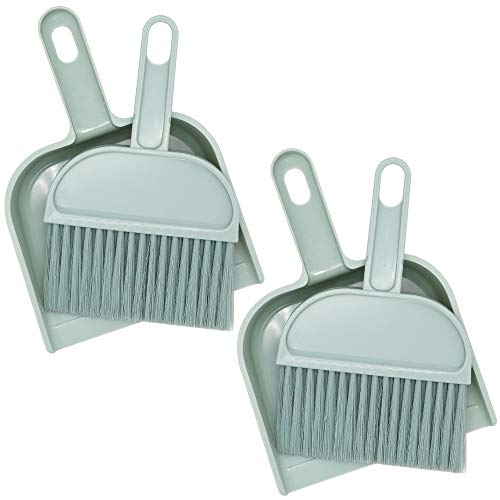 2 Pack Cage Cleaner for Small Animals Cage Cleaner Tool for Guinea Pig Hamsters Hedgehog Rabbit Reptiles Mini Dustpan and Brush Broom Set for Animal