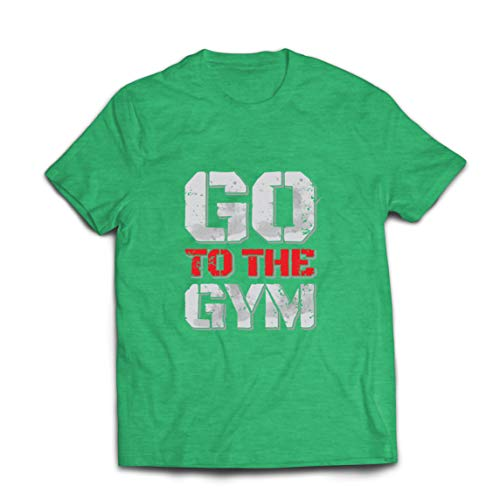lepni.me Mannen T-shirt Go to the Gym Motivational Fitness Workout Outfit