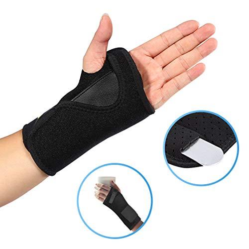Doact Neopren Verstellbare Schulter Bandagen für Männer und Frauen Rotatorenmanschette Verletzungen, Reduziere Schulterschmerzen, Schulterwärmer passend für Linke und Rechte Schulter (Schwarz/Linke)