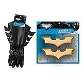 Rubie's Batman The Dark Knight Child Gauntlets and Batman Batarangs Black