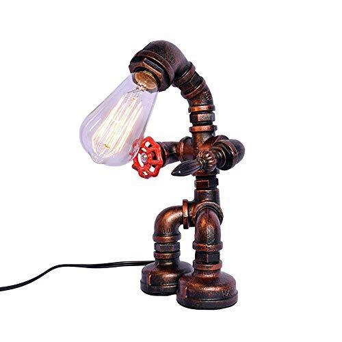 WRISCG Lámpara Escritorio Lámpara de Mesa de Estilo rústico Creativo Retro Industrial Tubo de Hierro lámpara de pie lámpara de Mesa lámpara de Sala de Estar lámpara de iluminación