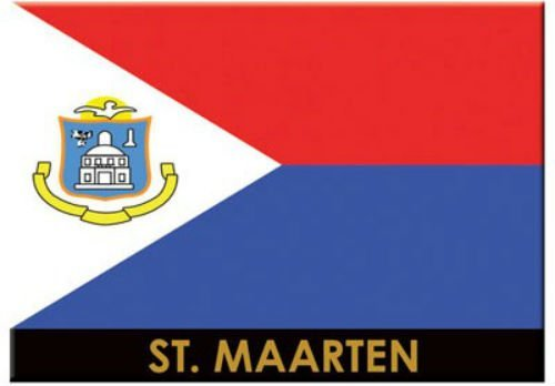 Kühlschrankmagnet St. Martin/St. Maarten-Flagge Sammlerstück, Souvenir, Magnet 6,3cm