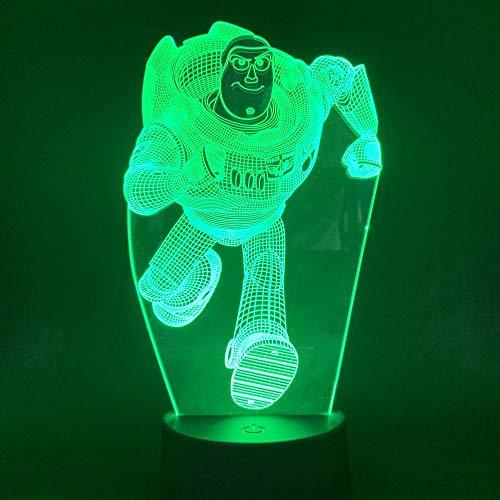 LDTSWES® 3D Animationsfilm Charakter Nachtlicht, Berührungsempfindliche Fernbedienung Farbwechsel Led Tischlampe, Kinder Kreative Geschenk